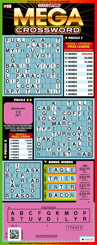 Mega Crossword Scratch Offs Hoosier Lottery Hoosier Lottery